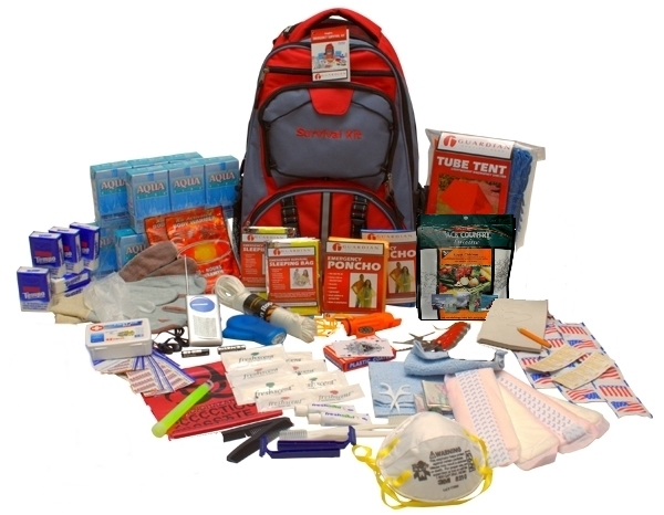 A backpack with myriad of products